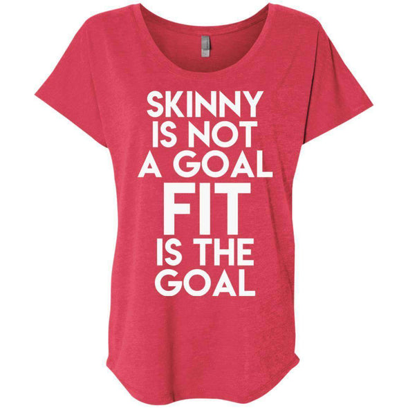 Fit is the Goal T-Shirts CustomCat Vintage Red X-Small