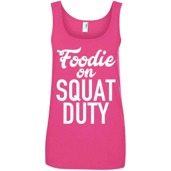 Foodie on Squat Duty T-Shirts CustomCat Hot Pink Small