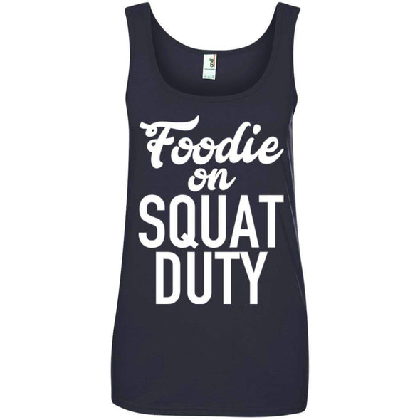 Foodie on Squat Duty T-Shirts CustomCat Navy Small
