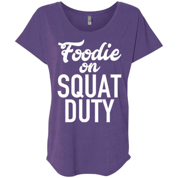 Foodie on Squat Duty T-Shirts CustomCat Purple Rush X-Small