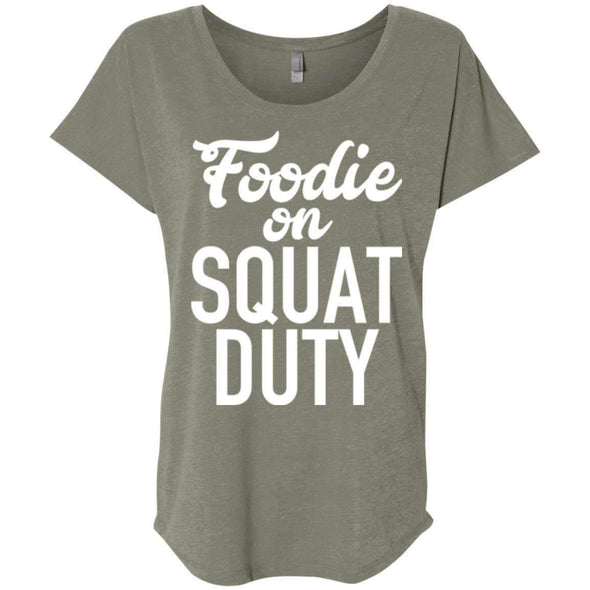 Foodie on Squat Duty T-Shirts CustomCat Venetian Grey X-Small