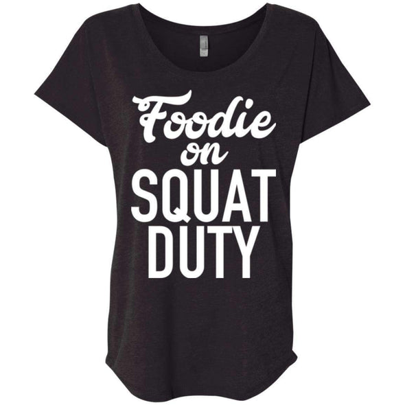 Foodie on Squat Duty T-Shirts CustomCat Vintage Black X-Small