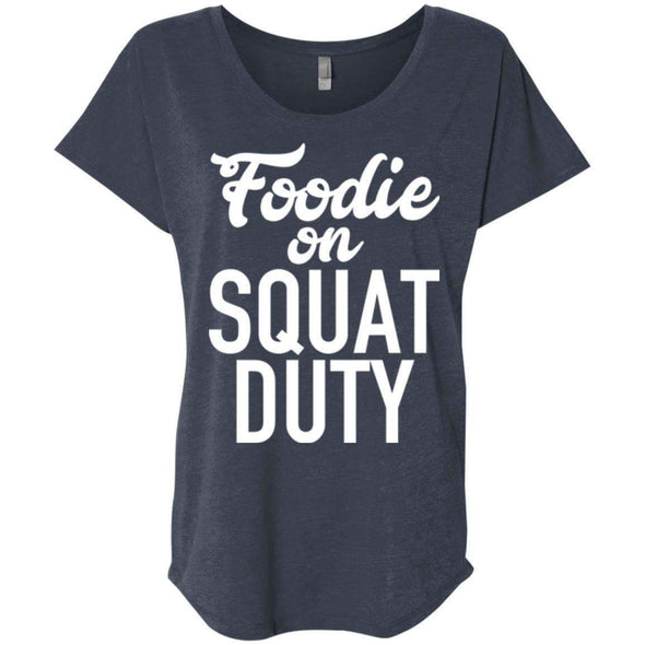 Foodie on Squat Duty T-Shirts CustomCat Vintage Navy X-Small