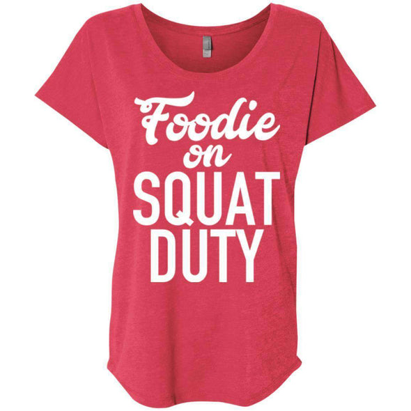 Foodie on Squat Duty T-Shirts CustomCat Vintage Red X-Small