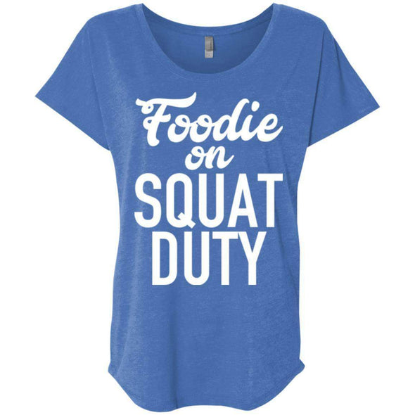 Foodie on Squat Duty T-Shirts CustomCat Vintage Royal X-Small