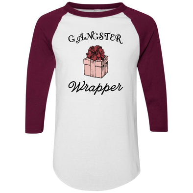 Gangster Wrapper Apparel CustomCat Raglan Jersey White/Maroon S