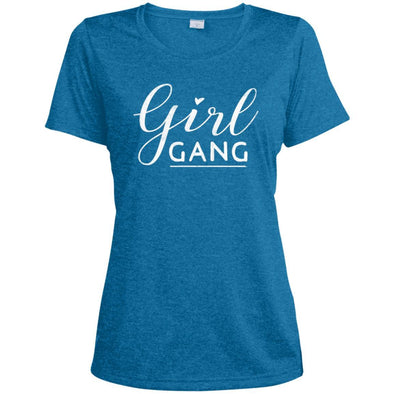 Girl Gang Dri-Fit Tee T-Shirts CustomCat Blue Wake Heather X-Small
