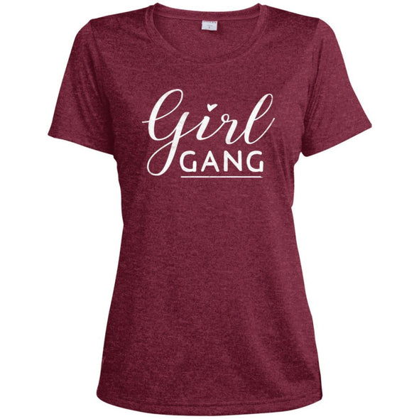 Girl Gang Dri-Fit Tee T-Shirts CustomCat Cardinal Heather X-Small