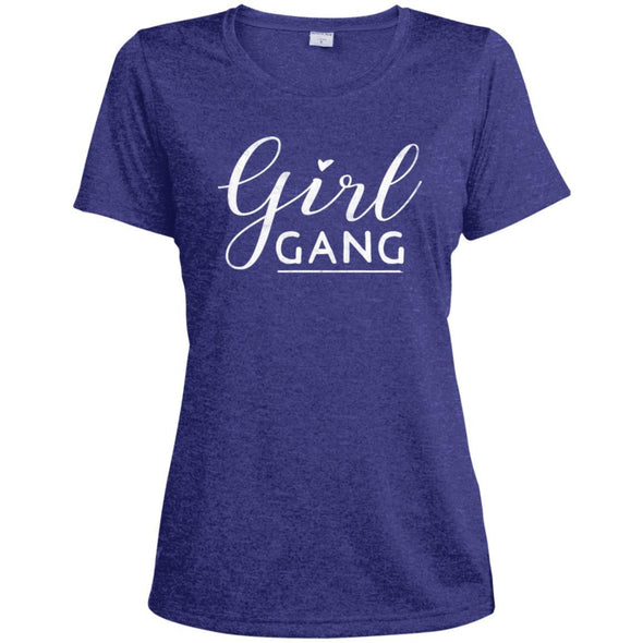 Girl Gang Dri-Fit Tee T-Shirts CustomCat Cobalt Heather X-Small