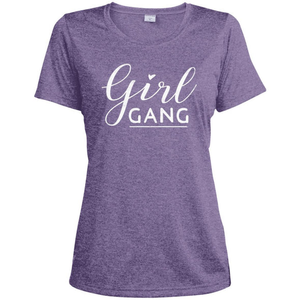 Girl Gang Dri-Fit Tee T-Shirts CustomCat Purple Heather X-Small
