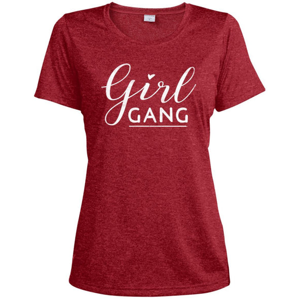 Girl Gang Dri-Fit Tee T-Shirts CustomCat Scarlet Heather X-Small