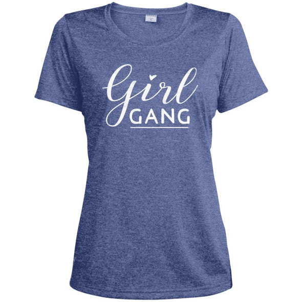 Girl Gang Dri-Fit Tee T-Shirts CustomCat True Royal Heather X-Small