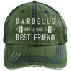 Girl's Best Friend Hats CustomCat Dark Green/Navy One Size