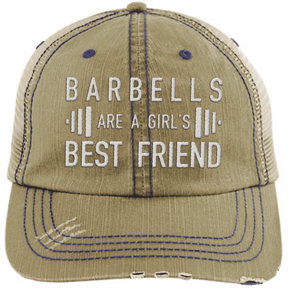 Girl's Best Friend Hats CustomCat Khaki/Navy One Size