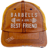 Girl's Best Friend Hats CustomCat Orange/Navy One Size