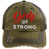 Girly & Strong red Hats CustomCat Brown/Navy One Size