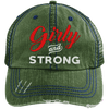Girly & Strong red Hats CustomCat Dark Green/Navy One Size