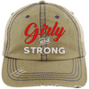 Girly & Strong red Hats CustomCat Khaki/Navy One Size