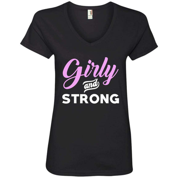 Girly & Strong T-Shirts CustomCat Black Small