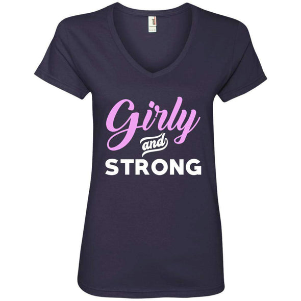 Girly & Strong T-Shirts CustomCat Navy Small