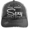 Goal Weigh, Sexy Stong n' Savage Hats CustomCat Black/Grey One Size