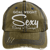 Goal Weigh, Sexy Stong n' Savage Hats CustomCat Brown/Navy One Size