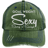 Goal Weigh, Sexy Stong n' Savage Hats CustomCat Dark Green/Navy One Size
