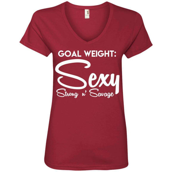 Goal Weight, Sexy Strong n' Savage T-Shirts CustomCat Independence Red Small