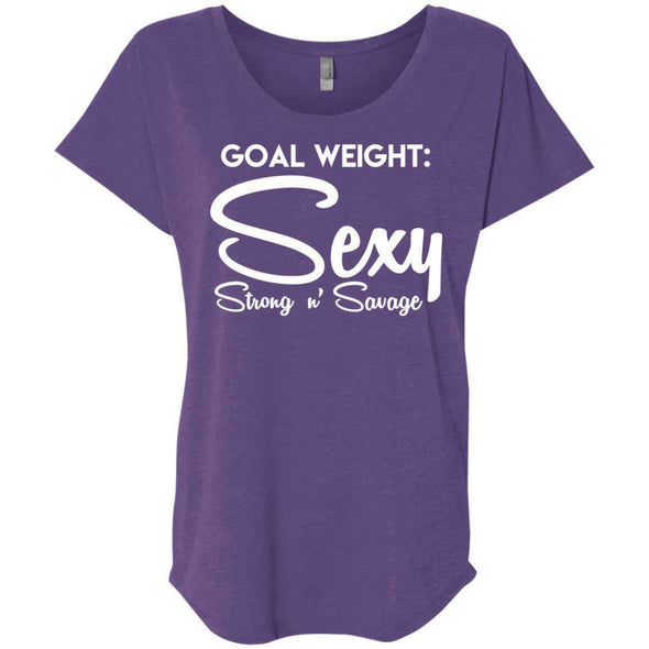 Goal Weight, Sexy Strong n' Savage T-Shirts CustomCat Purple Rush X-Small
