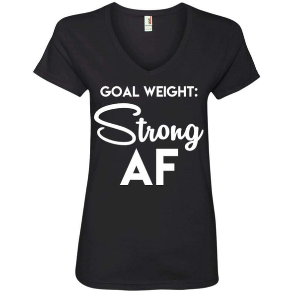 Goal Weight Strong AF T-Shirts CustomCat Black Small