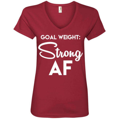 Goal Weight Strong AF T-Shirts CustomCat Independence Red Small
