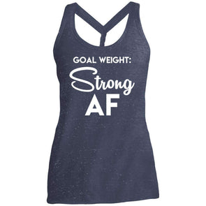 Goal Weight Strong AF T-Shirts CustomCat Navy/Royal Cosmic X-Small