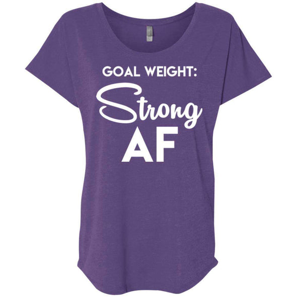 Goal Weight Strong AF T-Shirts CustomCat Purple Rush X-Small