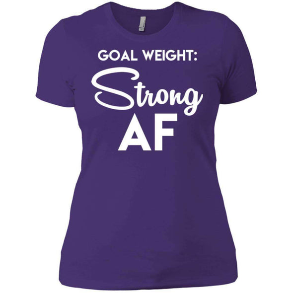 Goal Weight Strong AF T-Shirts CustomCat Purple X-Small