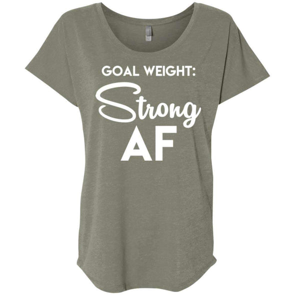 Goal Weight Strong AF T-Shirts CustomCat Venetian Grey X-Small