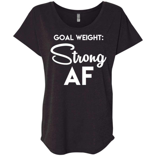 Goal Weight Strong AF T-Shirts CustomCat Vintage Black X-Small