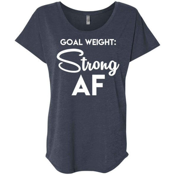 Goal Weight Strong AF T-Shirts CustomCat Vintage Navy X-Small