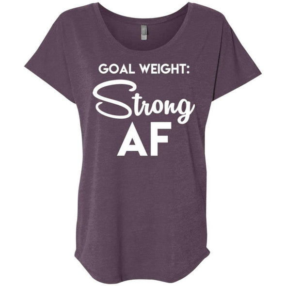 Goal Weight Strong AF T-Shirts CustomCat Vintage Purple X-Small