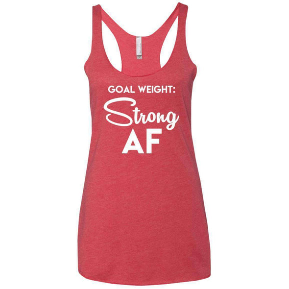Goal Weight Strong AF T-Shirts CustomCat Vintage Red X-Small