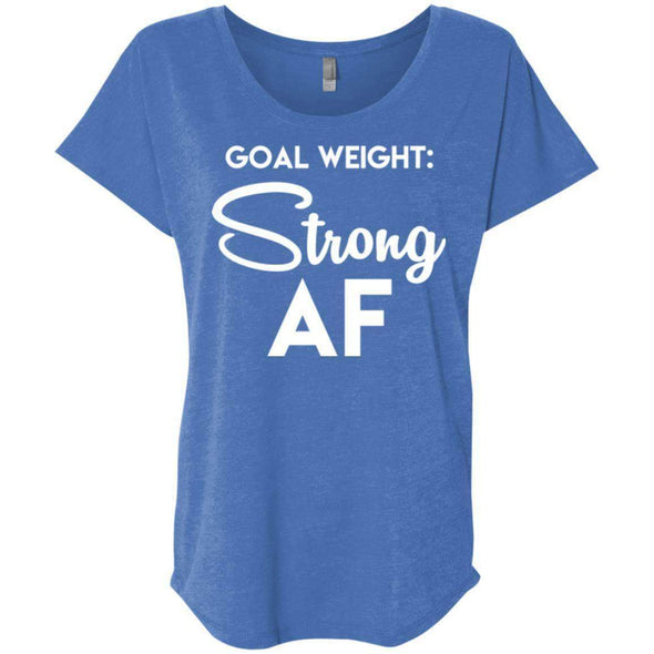 Goal Weight Strong AF T-Shirts CustomCat Vintage Royal X-Small