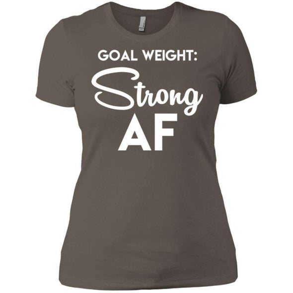 Goal Weight Strong AF T-Shirts CustomCat Warm Grey X-Small