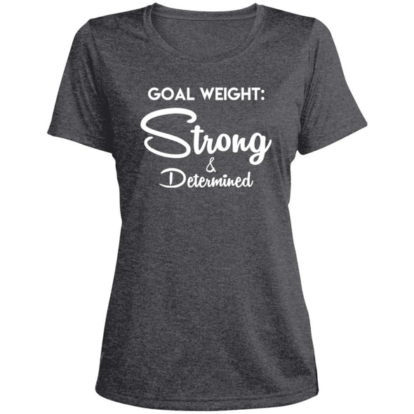 Goal Weight Strong & Determined Dri-Fit T-Shirt T-Shirts CustomCat Graphite Heather X-Small