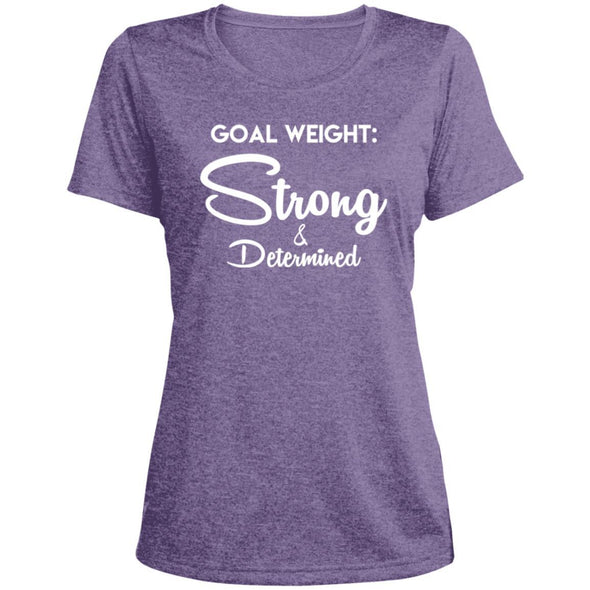 Goal Weight Strong & Determined Dri-Fit T-Shirt T-Shirts CustomCat Purple Heather X-Small