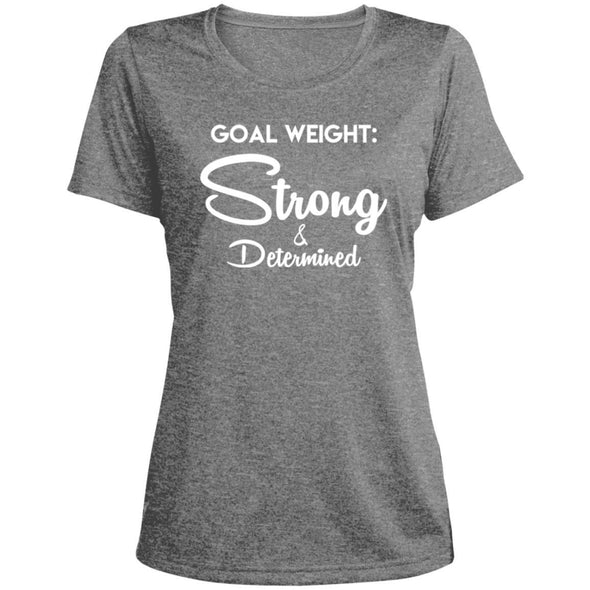 Goal Weight Strong & Determined Dri-Fit T-Shirt T-Shirts CustomCat Vintage Heather X-Small