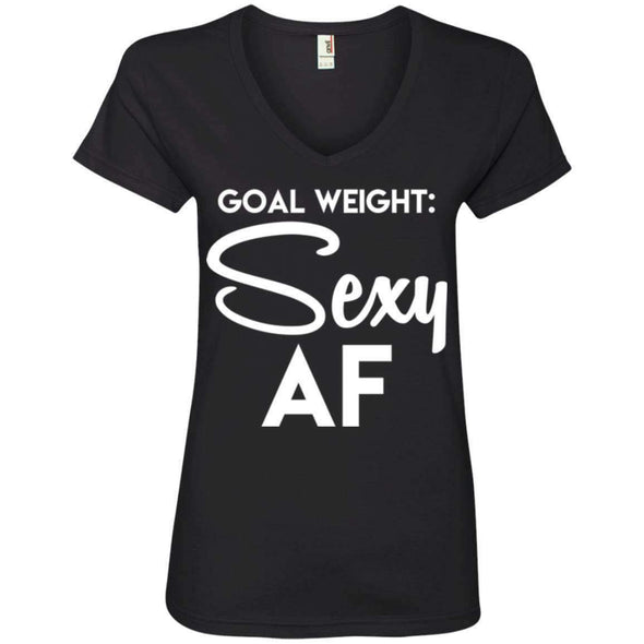 Goal Weight T-Shirts CustomCat Black Small