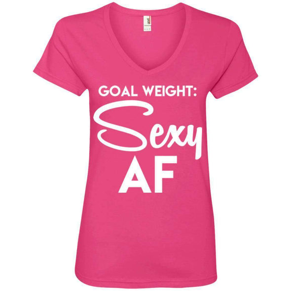 Goal Weight T-Shirts CustomCat Hot Pink Small