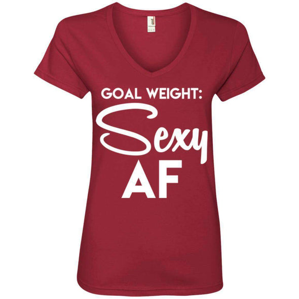 Goal Weight T-Shirts CustomCat Independence Red Small