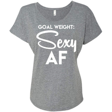 Goal Weight T-Shirts CustomCat Premium Heather X-Small