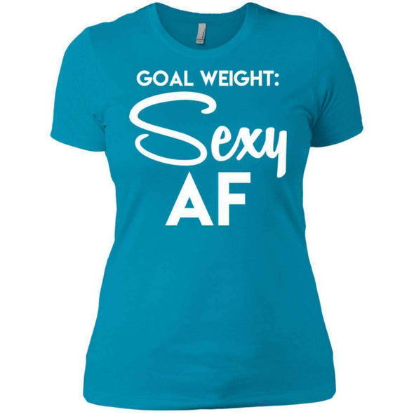 Goal Weight T-Shirts CustomCat Turquoise X-Small