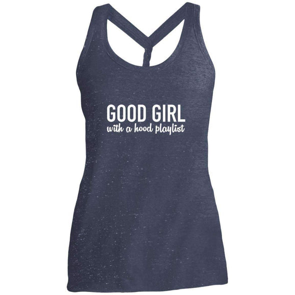 GOOD GIRL with a hood playlist T-Shirts CustomCat Navy/Royal Cosmic X-Small